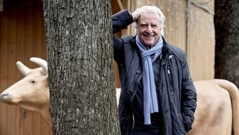 «Ich denke nie ans Sofahocken und auch nie ans Alter»: Emil Steinberger sprüht auch mit 86 Jahren noch vor Ideen, so auch beim Fototermin in Basel.