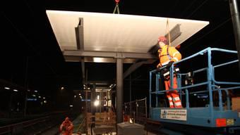 Baustelle am Bahnhof Wettingen