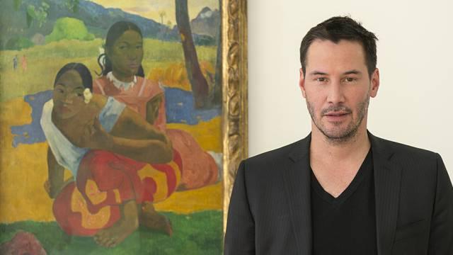 """Keanu Reeves posiert mit dem Gauguin """"Nafea"""" (Archiv)"""