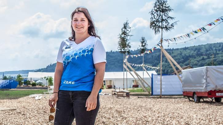 Während des zweiwöchigen Aufbaus ist Sandrine Bärtschi täglich 16 Stunden im Einsatz.