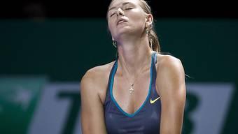 Maria Scharapowa gibt beim Masters verletzt auf