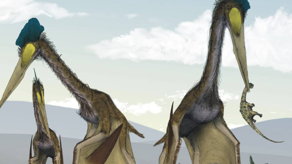 Lange Hälse von Flugsauriern hatten besondere Querstreben
