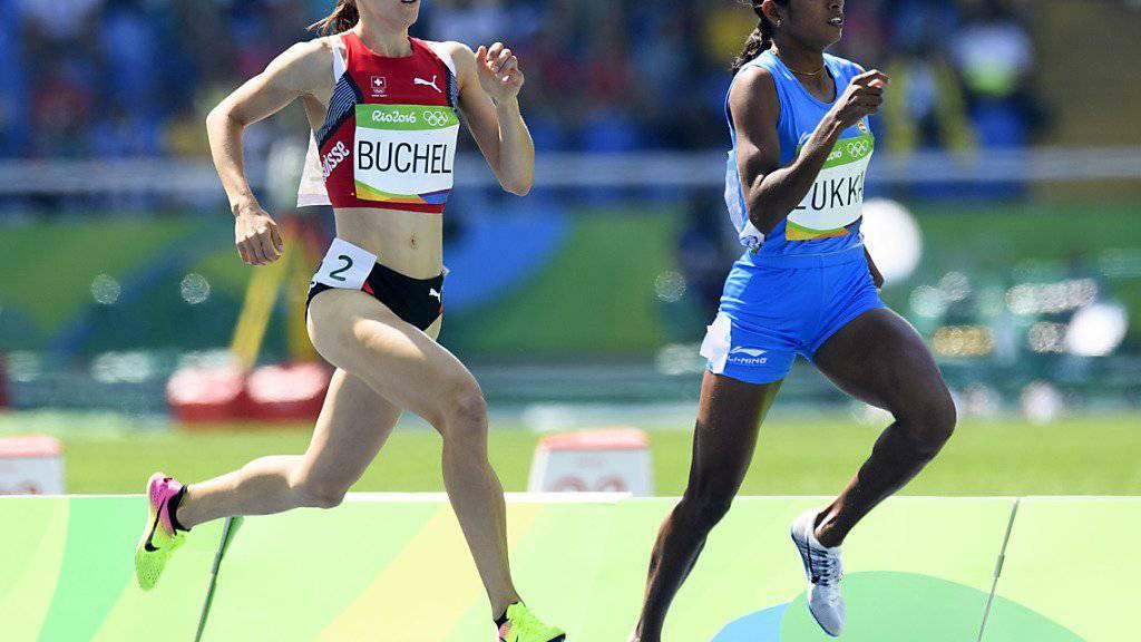 Selina Büchel (links) zeigte eine starke Leistung im Vorlauf über 800 m
