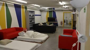 Schlaf- und Wohnraum in der Zivilschutzanlage Kestenholz (Archiv)