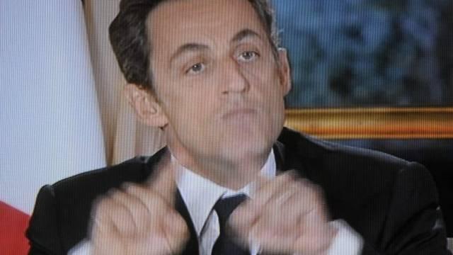 Nicolas Sarkozy äusserte sich im TV erstmals zu den Rochaden im Kabinett