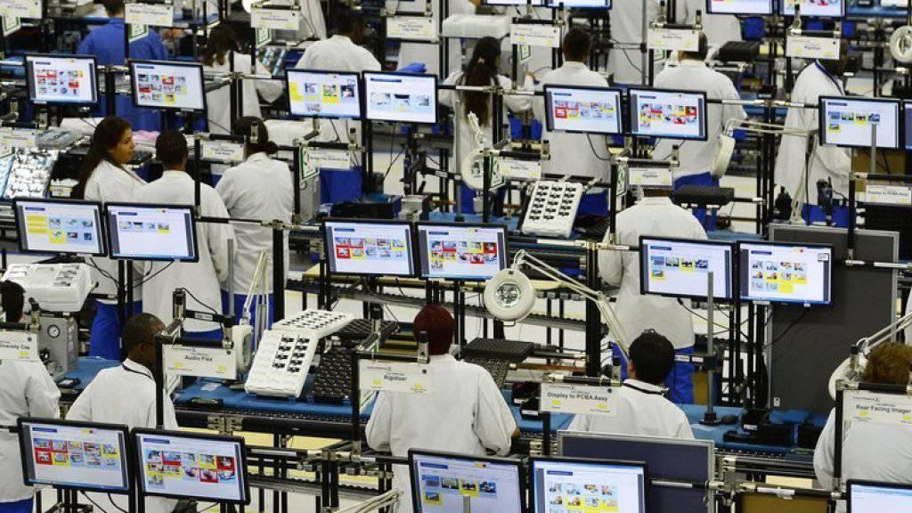 215'000 neue Stellen schuf die US-Wirtschaft im März. Auch der Industrie-Barometer zeigt auf Wachstum. (Symbolbild)