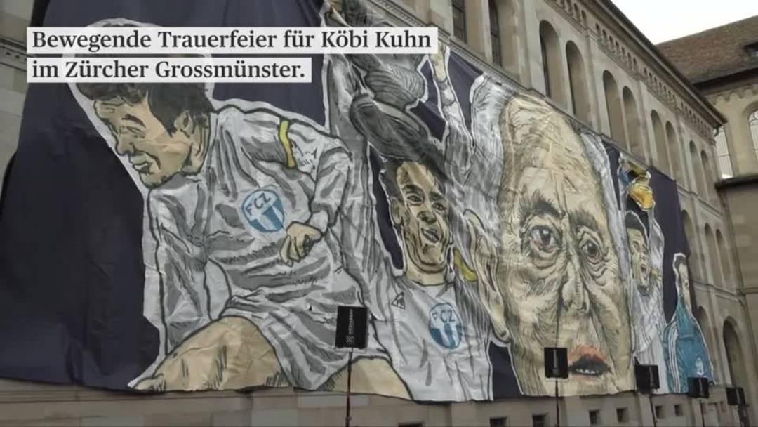 Bewegende Trauerfeier für Köbi Kuhn im Zürcher Grossmünster.