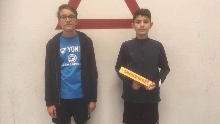 Die stolzen Gewinner des Knabenturniers Pascal und Redon