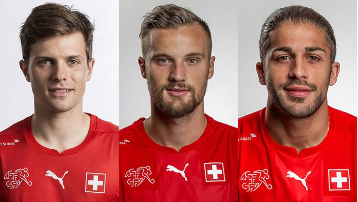 Valentin Stocker, Haris Seferovic und Ricardo Rodriguez.