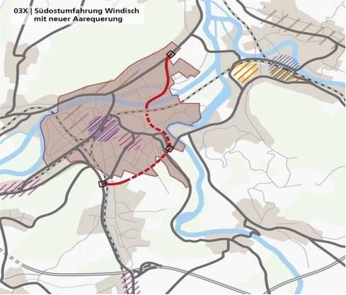 als auch mit der Südostumfahrung Windisch kann laut Kanton eine Entlastung «am richtigen Ort» erreicht werden.