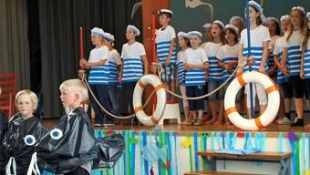 Musical der Primarschülerinnen und Primarschüler: Die Matrosen haben eine von Aqualinas Perlen gefunden. Gabriela Gehrig