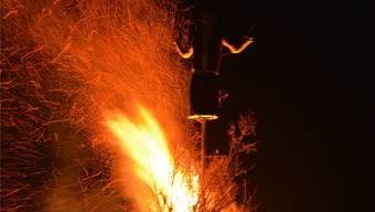 Der Böögg wollte und wollte nicht brennen.