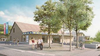 Beim neuen Volg-Laden soll – wie auf dieser Visualisierung – ein  öffentlicher Zugangsbereich entstehen.