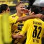 Erling Haaland trifft bei der Rückkehr der Fans in Dortmund doppelt