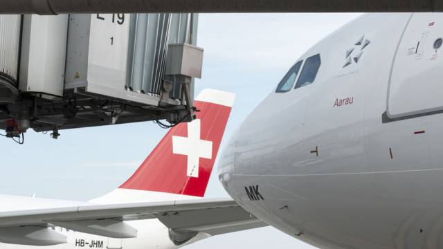 Maschinen der Swiss International Air Lines in Zürich (Archiv)