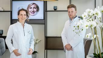 «Das Vertrauen ist zurück»: Felix Bertram, ärztlicher Leiter und Inhaber von Skinmed, und Tatjana Lanaras, Fachärztin.