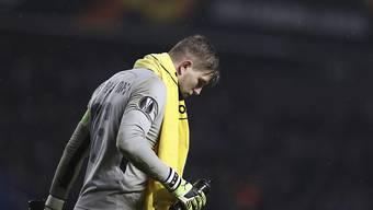 Verregnet und einsam: David von Ballmoos und die Young Boys scheiden in der Gruppenphase der Europa League aus