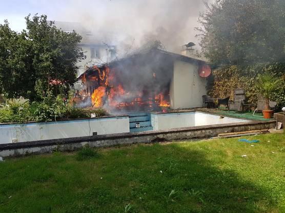 Durch den Brand entstand ein Sachschaden von über 100'000 Franken.