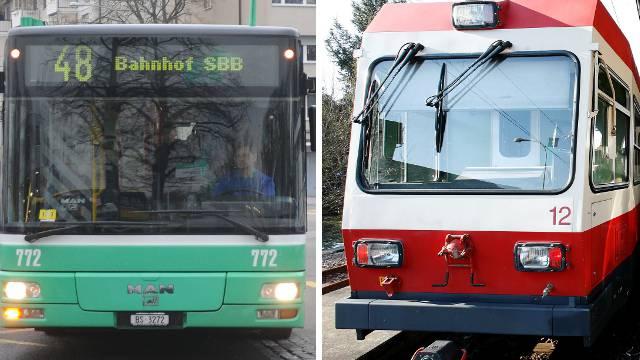 Während der 48er-Bus von Allschwil an den Bahnhof SBB ausgebaut wird, muss das Waldenburgerli noch lange auf neue Wagen warten.