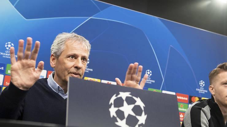 Lucien Favre will seine junge Truppe in der Champions League zum Erfolg zurückführen