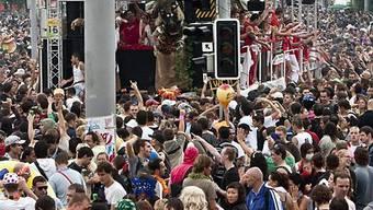Szene der Street Parade in Zürich