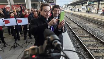 Kann sich über einen runderneuerten Bahnhof freuen: Luganos Stadtpräsident Marco Borradori.