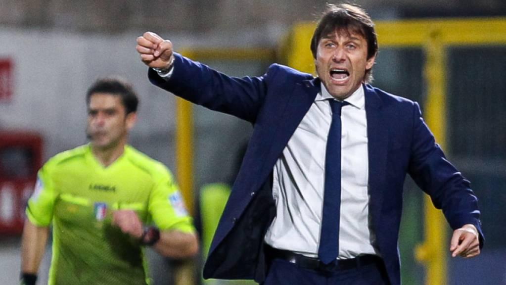 Antonio Conte kann mit dem Unentschieden von Inter Mailand angesichts der Tabellenlage gut Leben