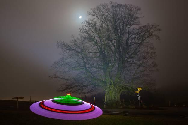 UFO Sichtung bei der Linner Linde im Februar ;-)