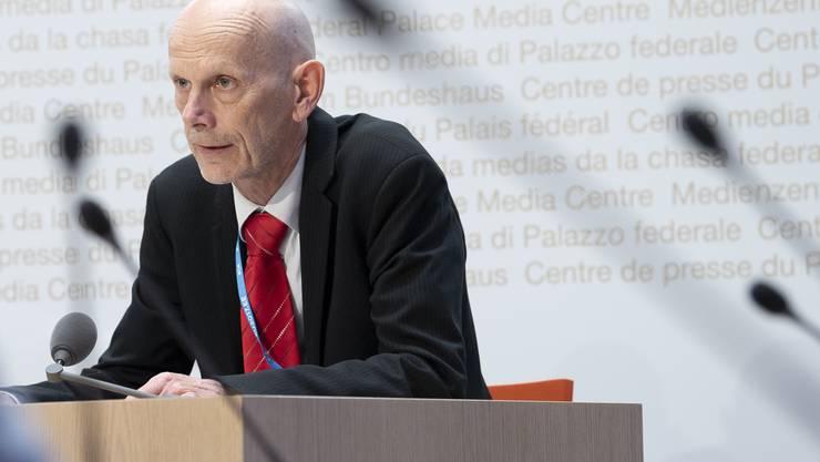 Daniel Koch vom Bundesamt für Gesundheit musste an der Medienkonferenz vom Donnerstag erneut diverse Fragen beantworten.