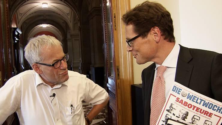 «Die Weltwoche lügt!» – «Saboteur!»: Kurt Fluri und Roger Köppel streiten sich heftig