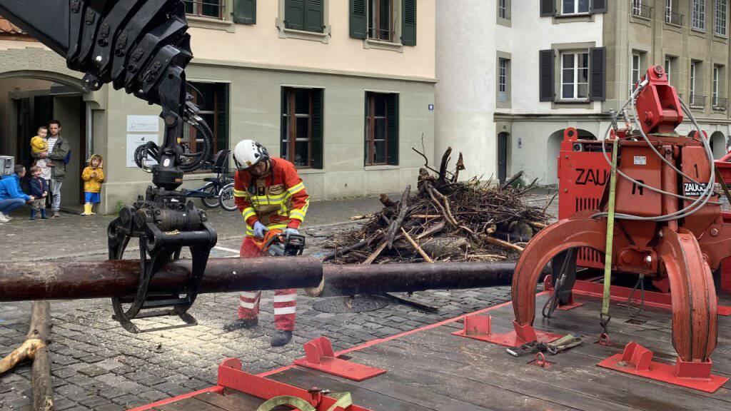 Feuerwehreinsatz nach dem ersten heftigen Gewitter dieses Sommers im Berner Mattequartier.