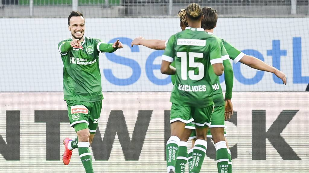 St.Gallen fertigt YB mit 4:1 ab und steht im Cup-Viertelfinal