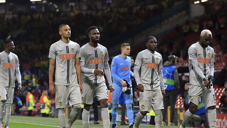 Die Young Boys verlassen das Old Trafford nach dem späten Gegentreffer mit leeren Händen