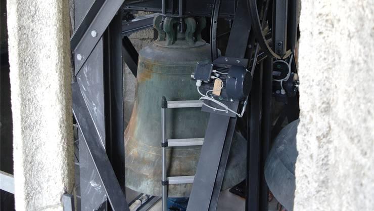 Der Glockenstuhl im Turm der reformierten Stadtkirche war verrostet und wurde durch einen neuen ersetzt.