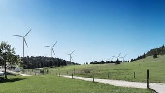 Auf dem Grenchenberg sollen 6 Anlagen entstehen, welche 16 MW elektrische Energie liefern und eine Investition von ca. 35 Mio. Franken erfordern.