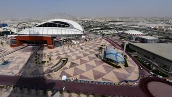 Das Khalifa International Stadion in der sogenannten Aspire Zone von Doha.