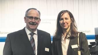«Hypi»-Verwaltungsratspräsident Gerhard Hanhart mit der neu gewählten Verwaltungsrätin Doris Agotai.