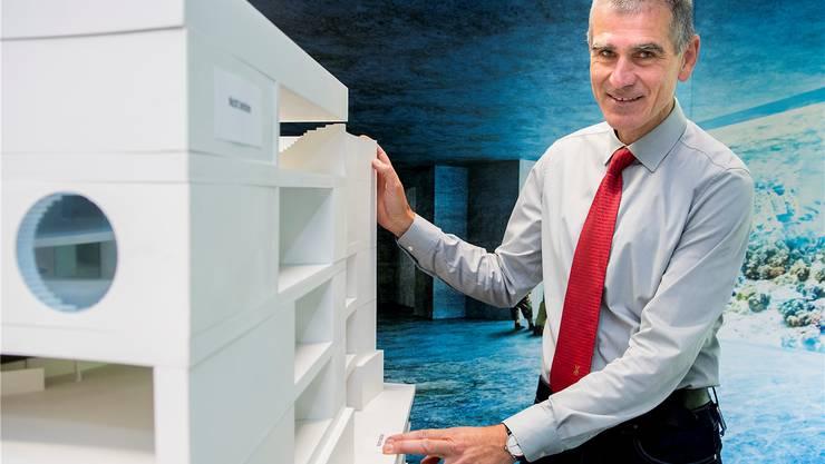 Ein zehnjähriges Unterfangen gebodigt: Zollidirektor Olivier Pagan wird das Modell des Ozeaniums nicht realisieren können.