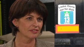 LKW-Chauffeuere veräppeln Verkehrsministerin Doris Leuthard