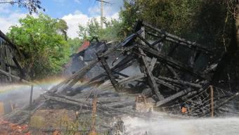 Schopf in Rekingen brennt nieder (Mai 2020)