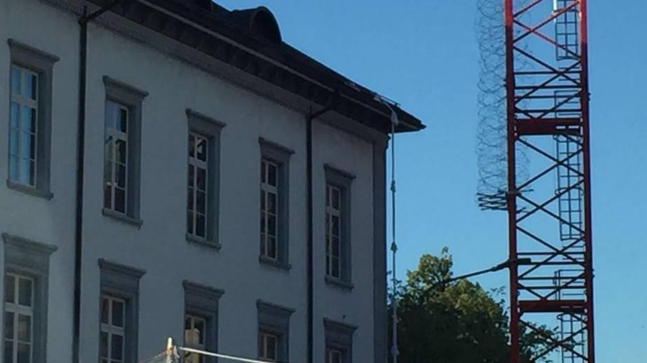 Bezirksgefängnis Baden: Hier baumelt das Fluchtseil aus Leintüchern
