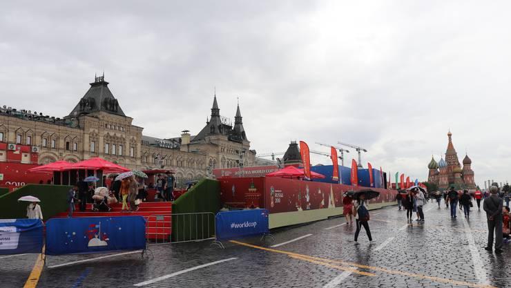 Der Rote Platz im WM-Fieber