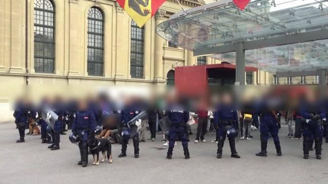 Unbewilligte Demo in Bern im Keim erstickt