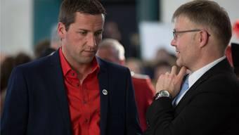 Unterschiedliche Partei, unterschiedliche Ausgangslage. Eines haben Martin Flury (BDP, links) und Christian Scheuermeyer (FDP) aber gemeinsam -– sie verfügen über guten Rückhalt in ihrer Wohngemeinde Deitingen.