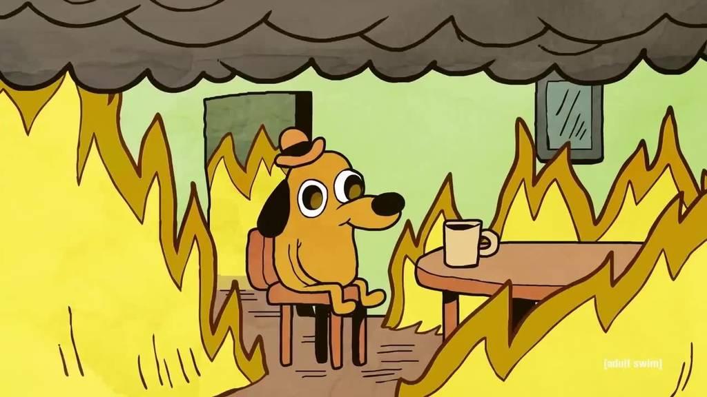 So sieht die Lage des FC St.Gallen für einen Twitter User aus. Das Haus brennt, doch der Vorstand bleibt untätig.