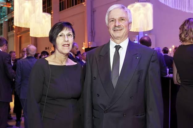 Bernhard Scholl, Grossratspräsident mit seine Frau Maria-Pia.