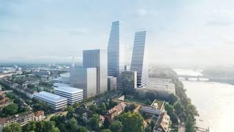 Baustelle auf dem Roche Campus Basel