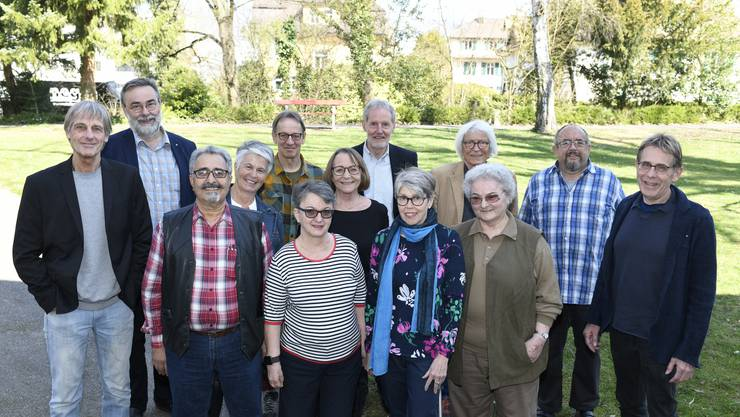 Die Kandidatinnen und Kandidaten der «SP Aargau 60+» (drei Personen waren beim Fototermin verhindert).