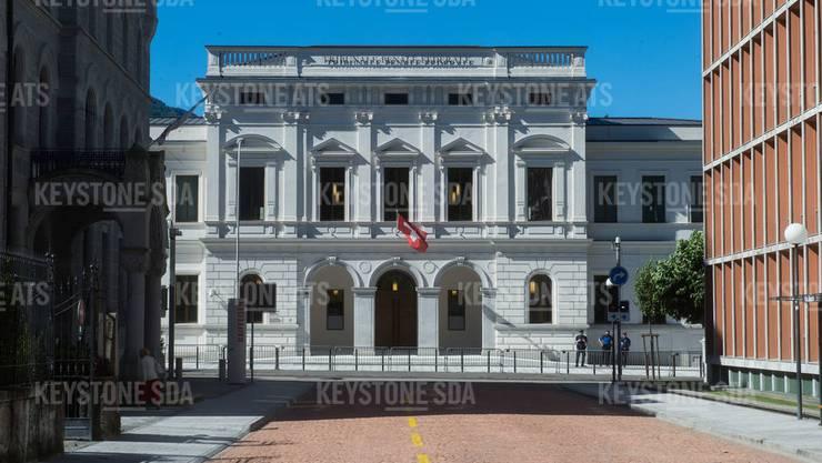 Am Bundesstrafgericht in Bellinzona begann am Dienstag ein Prozess gegen einen mutmasslichen IS-Unterstützer. (Archivbild: Keystone)