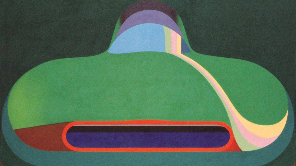 """Das Gemälde """"Bolide"""" (1968) von Markus Müller ist im Aargauer Kunsthaus in Aarau in der Ausstellung """"Swiss Pop Art"""" zu sehen. Die Ausstellung dauert vom 7. Mai bis 1. Oktober 2017."""